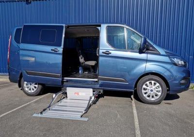 Aménagement handicap sur Ford Transit Custom