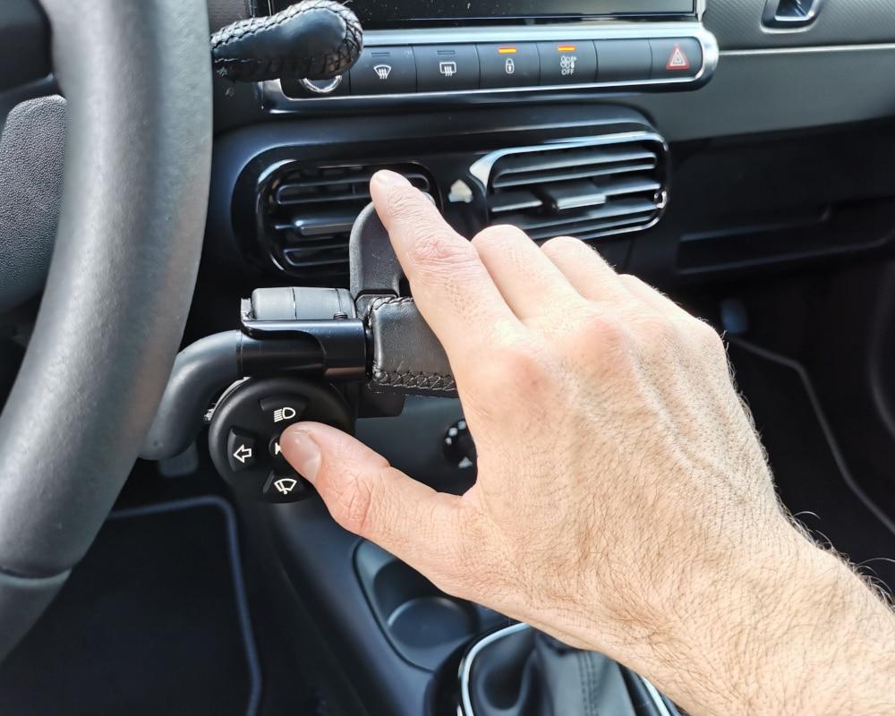 Accelerateur gachette index et mini clavier main droite