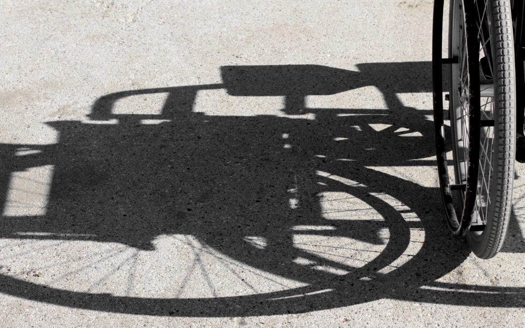 shadow of the wheelchair