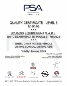 Certification PSA-Sojadis 2020