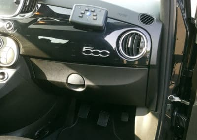 Transformation auto-école sur Fiat 500 Abarth