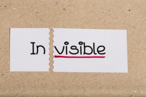 invisible turned into visible