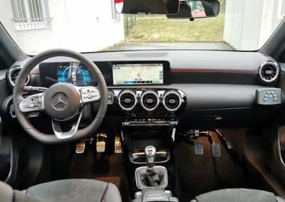 Transformation auto-école sur Mercedes classe A AMG