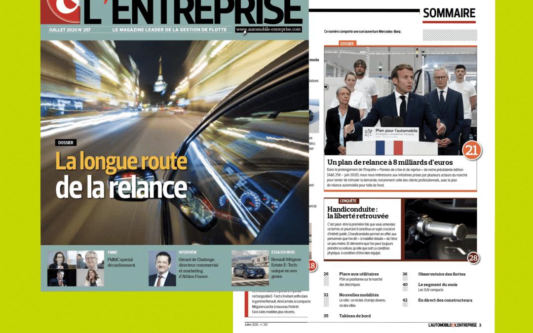 L'handiconduite, Sojadis et Daphnée à l'honneur dans le magazine L'automobile & L'entreprise