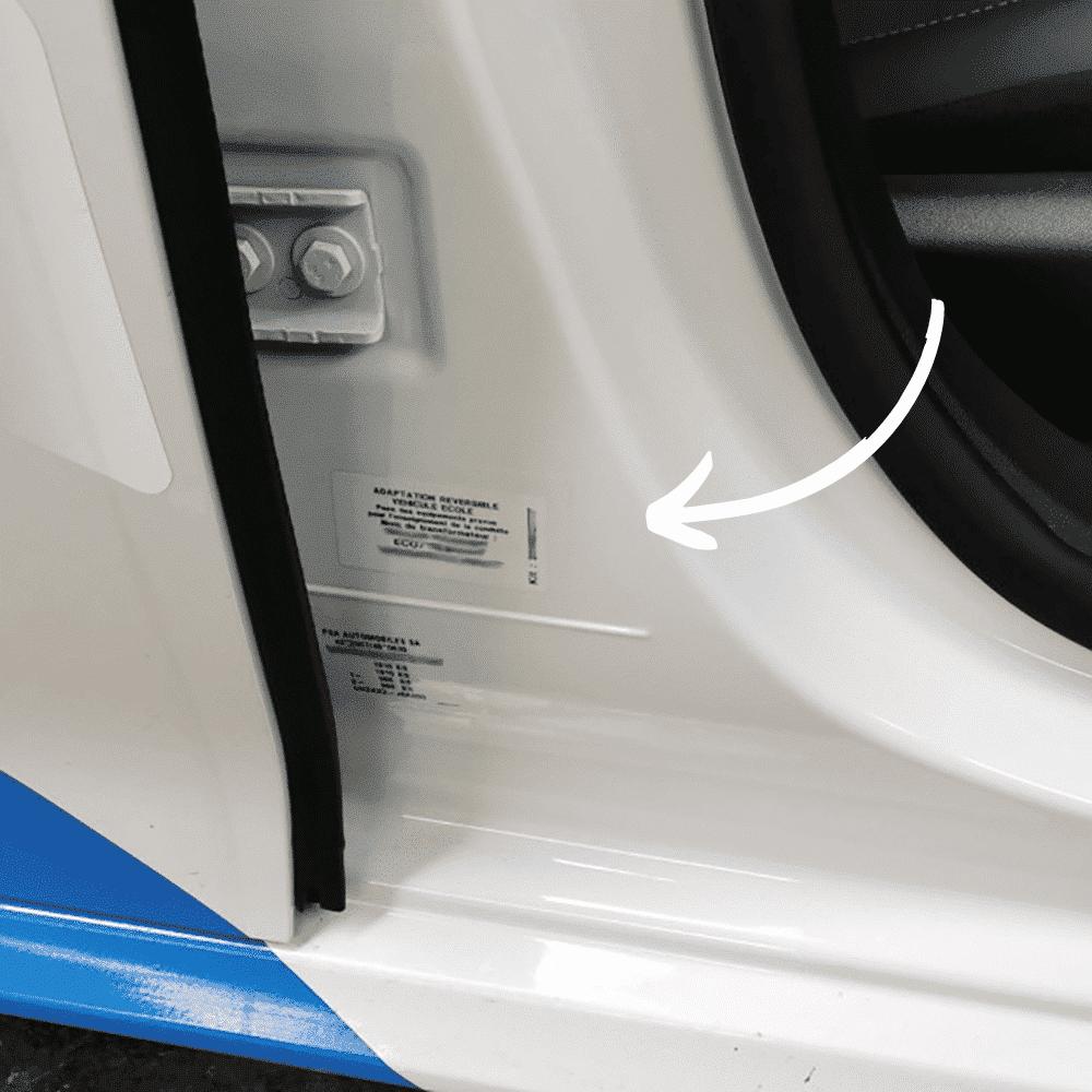 plaque transformation reversible auto ecole